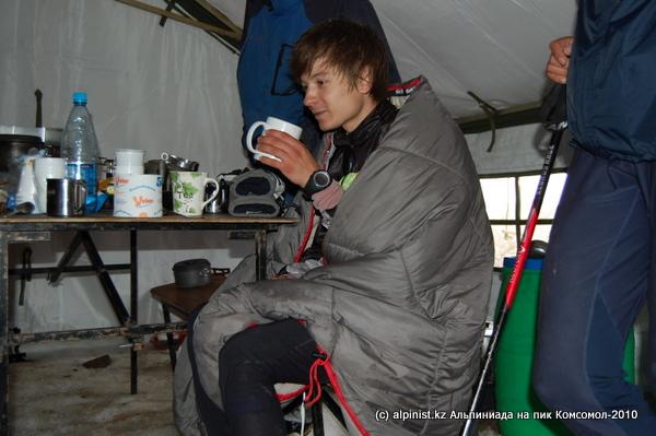 Спасительный горячий чай участникам забега