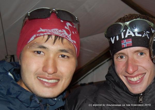 Саят Сатыбалдиев(3 место) и Тимур Артюхин(2 место)