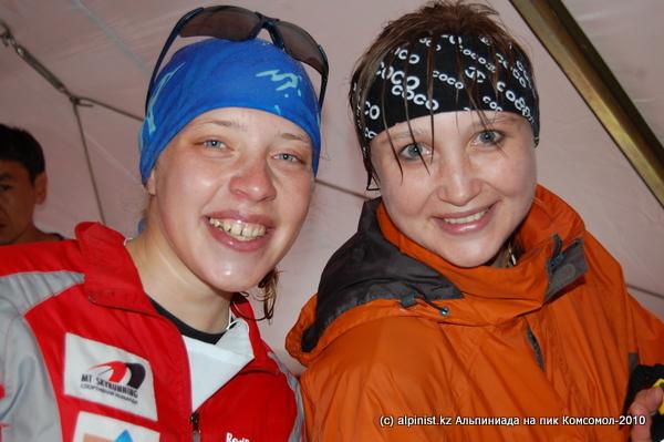 Ксения Маева (2 место) и Юлия Полякова (1 место)