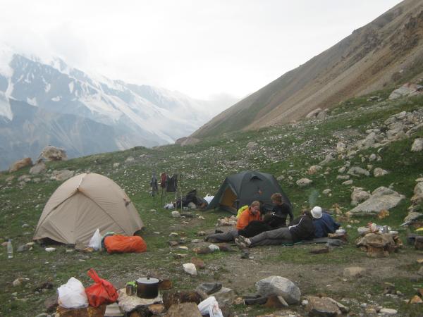 Зеленый лагерь под Китайским перевалом