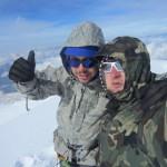 19 июня 2013. Андрей Гундарев на вершине вулкана Казбек.