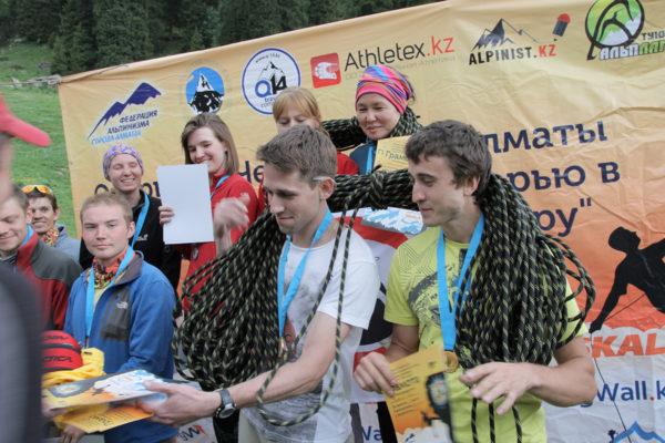 Результаты Открытого Чемпионата г.Алматы по альпинистскому двоеборью в двойках