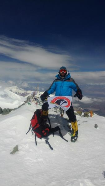 AlpineAsiaTeam на вершине пика Ленина.